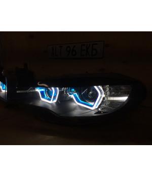Ангельские глазки BMW X6 E71 G-Style Blue 3D