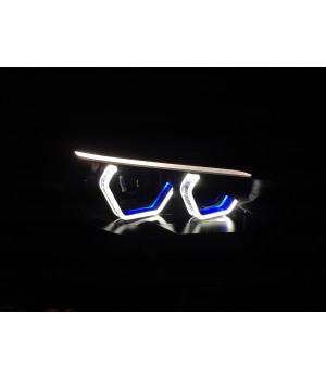 Ангельские глазки BMW 5 F10 ЦВЕТНЫЕ