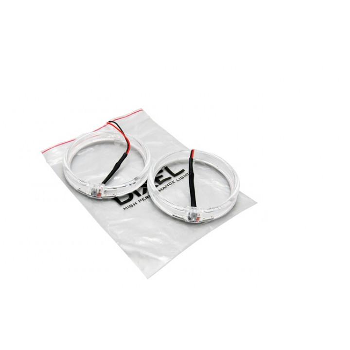LED Ангельские глазки с рассеивателями 80мм Белые (2шт)