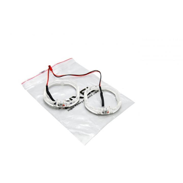Кольца квадратные LED 2.5 дюйма (80mm) Белые 2 шт.