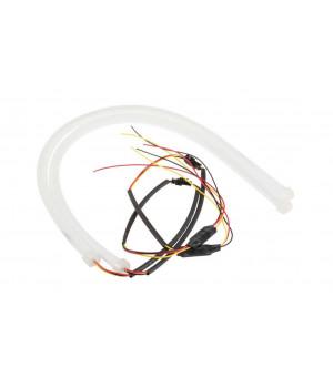 DRL гибкие светодиодные ленты ДХО 30 СМ. Белые 16W