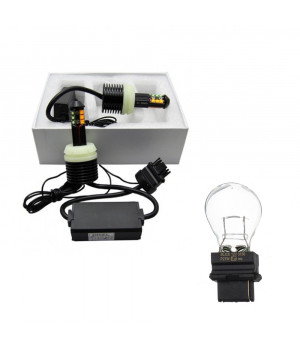 Лампа светодиодная LED T25 (3156) ДХО+Поворот