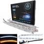 (TDRL) DRL Гибкие дневные ходовые огни S12 Crystal AUDI Style 12-24V ДИНАМИЧЕСКИЕ