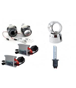 """Комплект биксеноновых линз с масками, лампами и блоками розжига   MORIMOTO H1 MINI 2,5"""""""