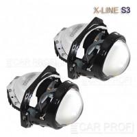 """Светодиодный би-модуль CarProfi Bi LED Lens X-line S3, 3.0"""""""
