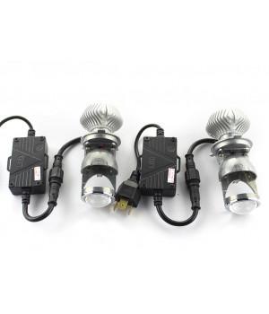 Светодиодные H4 MINI Led lens линзы - комплект - 2 шт
