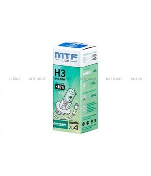 Галогенная лампа MTF Light автомобильная H3 24V 70W  LONG LIFE x4