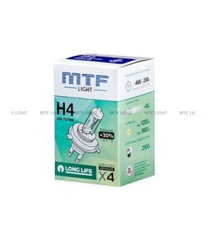 Галогенная лампа MTF Light автомобильная H4 24V 75/70W LONG LIFE x4