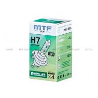 Галогенная лампа MTF Light автомобильная H7 24V 70W LONG LIFE x4