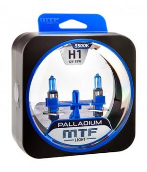 Галогенные автолампы серия PALLADIUM H1, 12V, 55W, комплект 2 шт