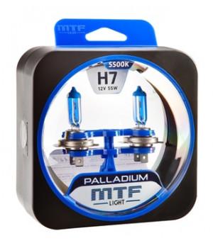 Галогенные автолампы серия PALLADIUM H7, 12V, 55W, комплект 2 шт
