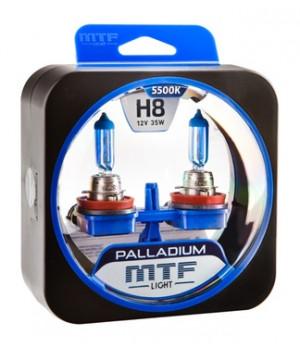 Галогенные автолампы серия PALLADIUM H8, 12V, 35W, комплект 2 шт