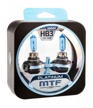 Галогенные автолампы серия PLATINUM HB3 (9005), 12V, 65W, комплект 2 шт