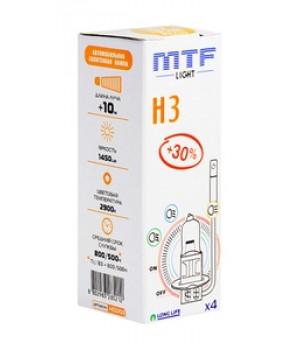 Галогенная лампа MTF H3 12v 55w - Standard +30%