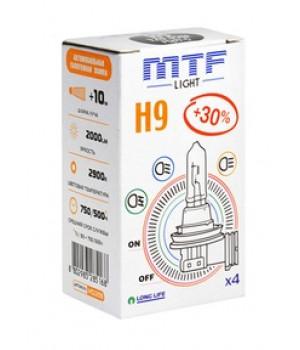 Галогенная лампа MTF H9 12v 65w - Standard +30%