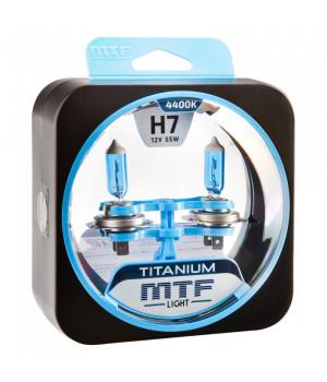 Галогенные автолампы серия TITANIUM H7, 12V, 55W, комплект 2 шт