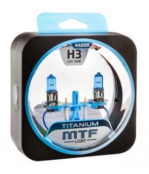 Галогенные автолампы серия TITANIUM H3, 12V, 55W, комплект 2 шт