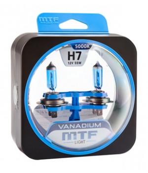 Галогенные автолампы серия VANADIUM H7, 12V, 55W, комплект 2 шт