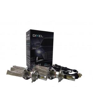 Светодиодные лампы головного света (ближний и дальний свет)  Dixel G6 H4- 5000K