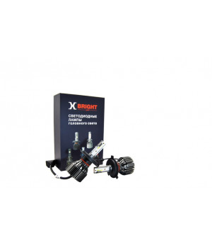 Светодиодная Лампа X-BRIGHT S3 CSP H4 Hi/Low 5000 K. 12V