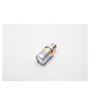 """Лампа светодиодная для поворотника S25 (1156 150"""") 30 SMD(3030)(Линза)Желтый12V"""