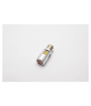 """Лампа светодиодная для поворотника S25 (1156 150"""") 30 SMD (3030) Желтый 12V"""