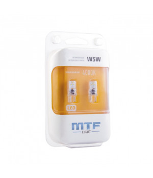 Светодиодная автолампа MTF Light VEGA, W5W/T10, 4000К