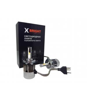Светодиодная Лампа X-BRIGHT C8 Seoul H4 5000 K. 9-32V Световой поток 4000Lm (Комп. 2 шт.)