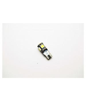Светодиодная лампа DIXEL (W5W) T10 5 SMD (5050) CAN-Bus Белый (110Lm) 12 VDC