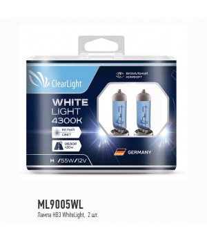 Лампа HB3(Clearlight)12V-65W WhiteLight (2 шт.)