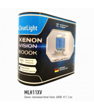Лампа H11(Clearlight)12V-55W XenonVision (2 шт.)