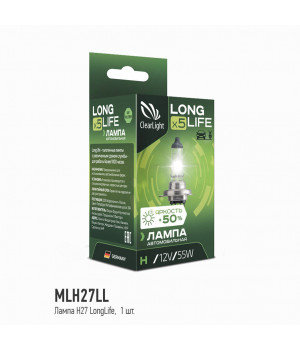 Лампа H27(Clearlight)12V-55W LongLife