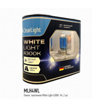 Лампа H4(Clearlight)12V-60/55W WhiteLight (2 шт.)