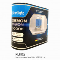 Лампа H4(Clearlight)12V-60/55W XenonVision (2 шт.)